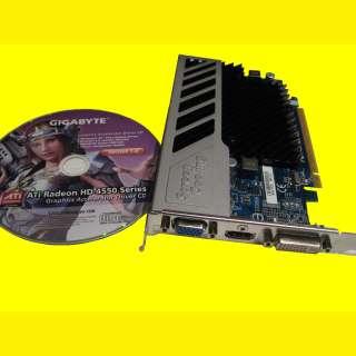 PC Grafikkarte 512 MB/ PCI  Express /DDR 3/GIGABYTE Radeon HD 4550/ mit Kühlripper /ohne Lüfter