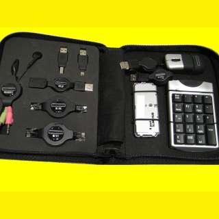 Reiseset für Laptop/Notebook/Netbook/Tablet/ Nummerischer Tastenblock/USB Adapter-Set für Netzwerk- und USB-Anschlüsse