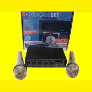 Mischpult/Verstärker und Karaoke/2 Mikrofone/DVD(12 Volt)auch für Karneval-Umzug-LKW