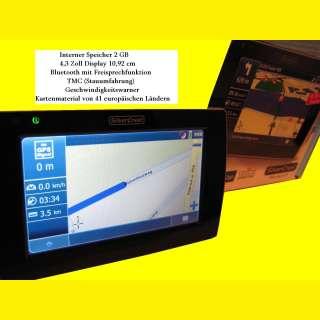 Mobiles Navigationsgerät(System)mit TMC/Bluetooth -Freisprechfunktion /2GB
