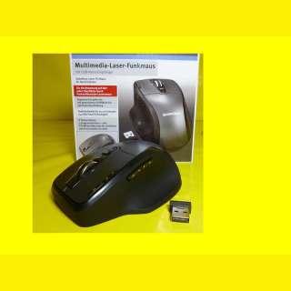 Kabellose Laser - PC - Funkmaus mit USB-Nano-Empfänger und Sonde