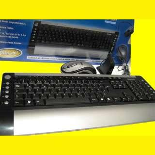 Multimedia Wireless/Funk Tastatur Slim/optische Maus mit 5 Tasten/13Hotkeys