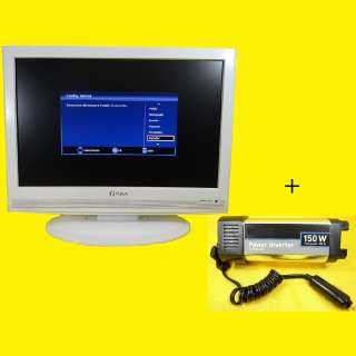 """LCD-TV 19 """"/DVB-T Tuner/HD-ready/PIP/PC-Input/Reaktion 5ms + Spannungswandler"""