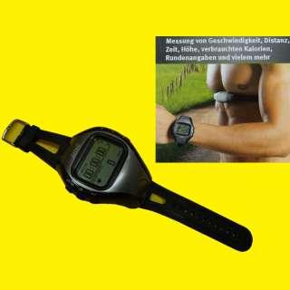 GPS-Uhr mit Herzfrequenzmesser/Navigationsfunktion/Wasserdicht/Geschwindigkeit/Distanz/Zeit/Höhe