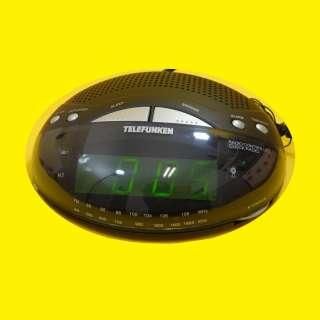 LED Funk-Uhrenradio / Wecker/ SNOOZE / 2 Weckzeiten / UKW/MW / Schwarz