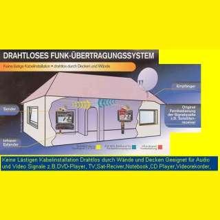 Drahtloses-Scart- Funkübertragungssystem für TV/ DVD/ PC/ SAT/ DVB-T Reciver