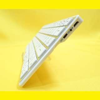 Kabellose Tastatur mit Bluetooth-Funktion 3.0 für Tablet-PCs und Smartphones/weiss