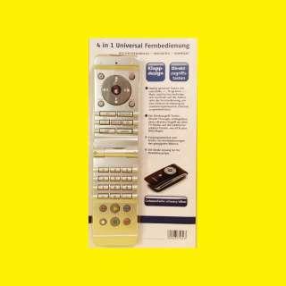 4 in 1 Universal design Fernbedienung/klappbar für TV, DVD/VCR, SAT, AUDIO/klappdesign/Direktzugrifstasten