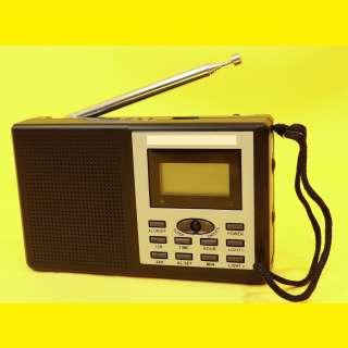Kopacktradio Weltempfänger FM/MW/UKW /Wecker/Uhr/Reisewecker/8 Band Word Receiver/mit Kopfhörer