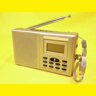 Kopacktradio Weltempfänger FM/MW/UKW /Wecker/Uhr/Reisewecker/8 Band Word Receiver/mit Kopfhörer/Silber