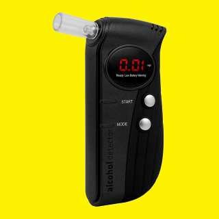 Alkoholtester Overmax AD-01 / LCD-Display mit Zubehör (Schutztasche, Ersatzmundstücke, Kfz-Halterung)