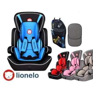 Komfortabler, Verstellbarer Autokindersitz Lionelo LEVI / 5-Punkt System Gurt / 1-12 Jahren