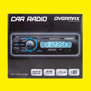Autoradio mit SD-Kartenslot/OV-CR-411G/ LCD Display/USB Anschluss / MP3 /Aux In/FM Radio/4 x 30 W