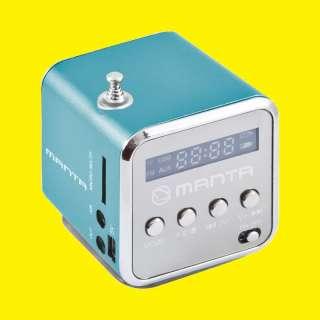 Portabler Mini-Lautsprecher/CUBE FM Radio mit Antenne/Mini MP3 Station/