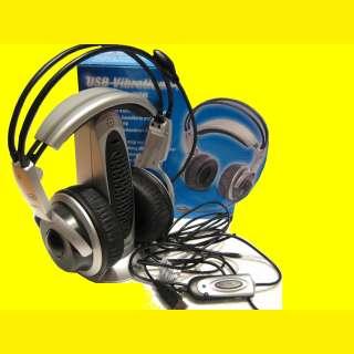 5.1 Gamer USB Vibrations–Headset/Kopfhörer mit Mikrophon/Fernbedienung