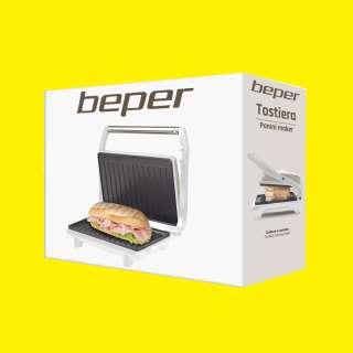 Kontaktgrill/Toaster/Contact Grill/ Elektrogrill/Sandwichmaker Tischgrill/Sandwichtoaster Waffeleisen/Cool-Touch/Antihaftbeschichtet/750 Watt Beper BP.290