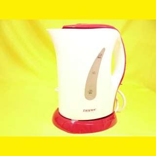 Elektrischer Wasserkocher 1 Liter 950 W Küche Rot BEPER 90.950H