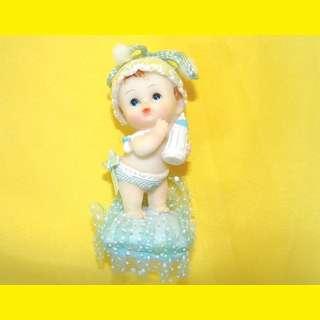 Tortenfigur Porzelanfigur  Baby Taufe Dekofigur Geburt Tortendeko