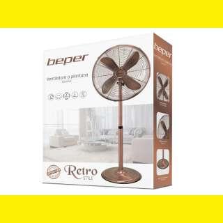 Retro Ventilator /Designer Standventilator /Turmventilator/Lüfter /3 Stufen/4 Flügel aus Alu/Gestell Metall