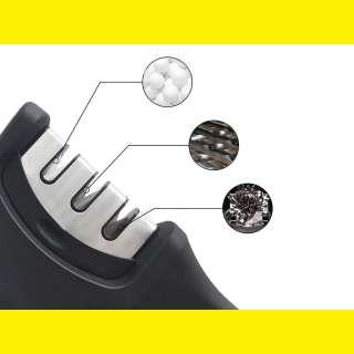 3 Stufen Messerschärfer für Stahl- messer , Keramikmesser, Schere Beper C107UTT001