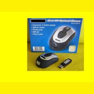 Funk Maus / Plug & Play / 5m Reichweite / wireless USB Maus/fuer Laptop/Tablet/