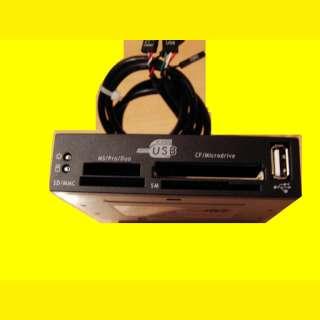 Frontpannel KARTENLESER ,Cardreader 3,5 Zoll 1 X USB /SD /MMC / SM/CF Anschluss