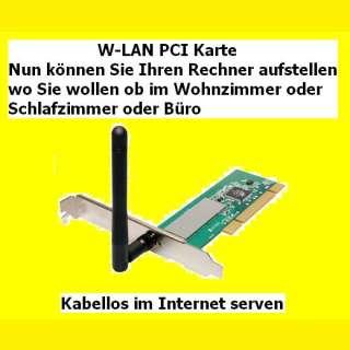 W-LAN PCI Karte (PCI-Adapter)54 MBit/s WL-130B R1.20