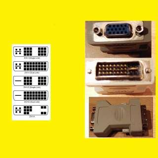 DVI-A Stecker zu VGA Kupplung/Buchse /Adapter/Konverter