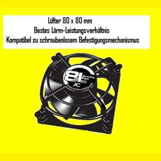 PC/ CPU Lüfter Arcting Fan 8L Lüfter 80x 80mm